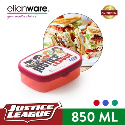Elianware DC Justice League Mini Superheroes Kids Food Container Lunch Bos Bekas (850ml)