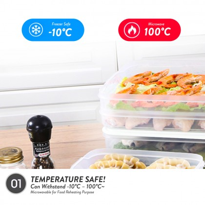 Elianware 2Pcs [BPA FREE] Transparent Round Fridge Freezer Microwavable Food Container Storage Keeper