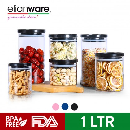 Elianware Multipurpose Airtight Glass Jar Canister Bekas Rempah Food Storage Container