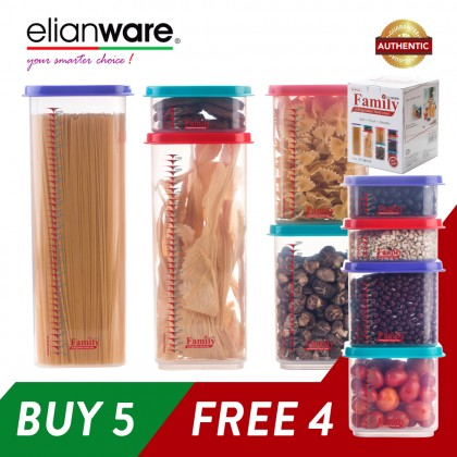 Elianware (BUY 5 FREE 4) Best Quality Stackable Family Storage Container