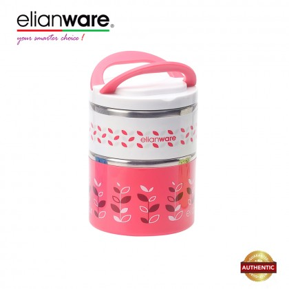 Elianware 900ml/1300ml BPA FREE Dual Layer Food Container Thermal Lunch Box