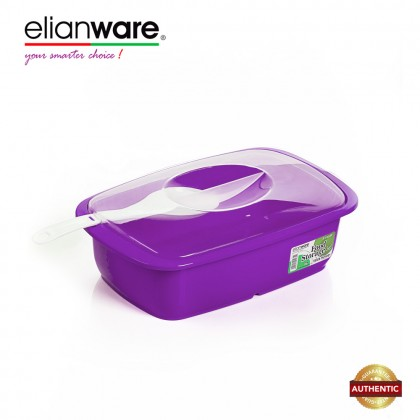 Elianware 2.6 Ltr Transparent Cover Food Serving Bowl with Scoop