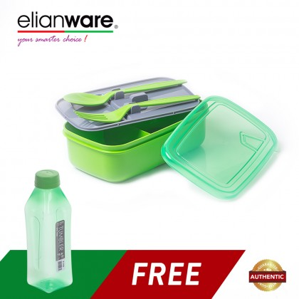 Elianware 1 Ltr Water Tumbler FREE 1.3 Ltr Lunch Box with Fork & Spoon