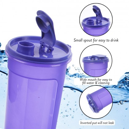 Elianware (BUY1 FREE1) 1.1 Ltr Best Seller E-Fresh BPA Free Water Tumbler