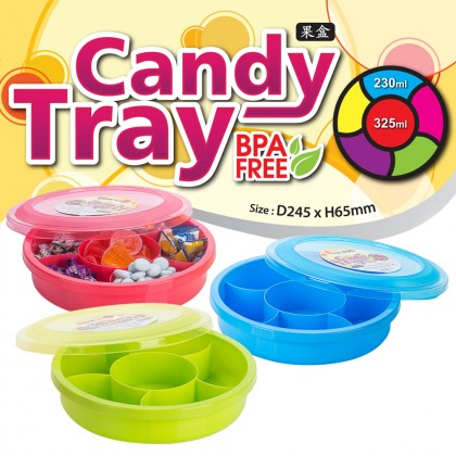 Elianware 1770ml BPA FREE Candy Tray (6 Compartments)
