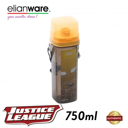 Elianware DC Justice League 750ml BPA Free Water Tumbler with Handle