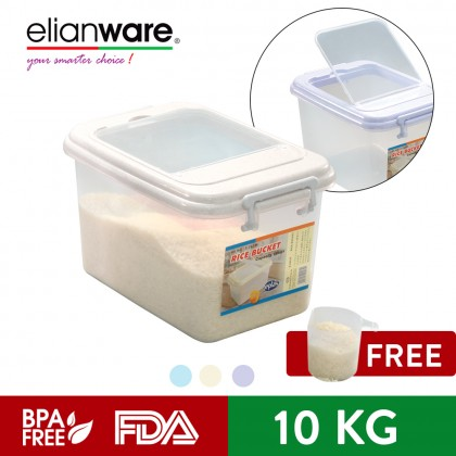Elianware High Quality [BPA Free] Rice Dispenser Food Storage Container Box 10kg