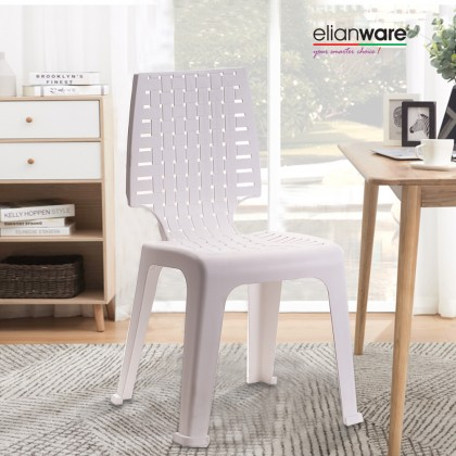 Elianware Stackable High Quality Furniture Heavy Duty Dining Stool Plastic Side Chair