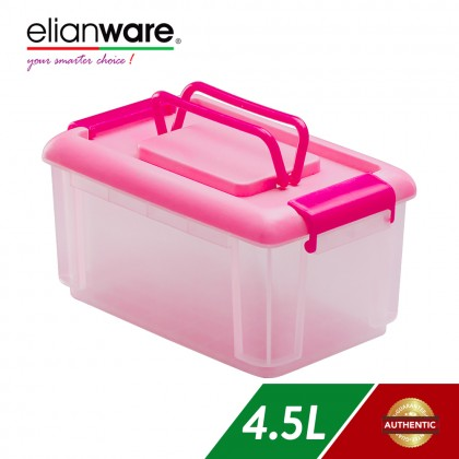 Elianware Pink 4.5L Multipurpose Storage Container with Handle
