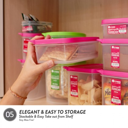 Elianware 900ml [BPA Free] Multipurpose Round Airtight Microwavable Food Container Storage Keeper